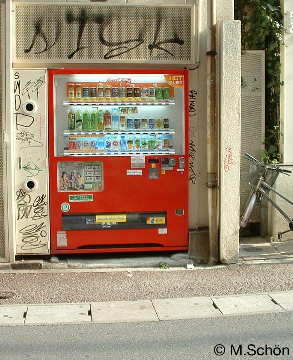 Japanische Automaten findet man überall