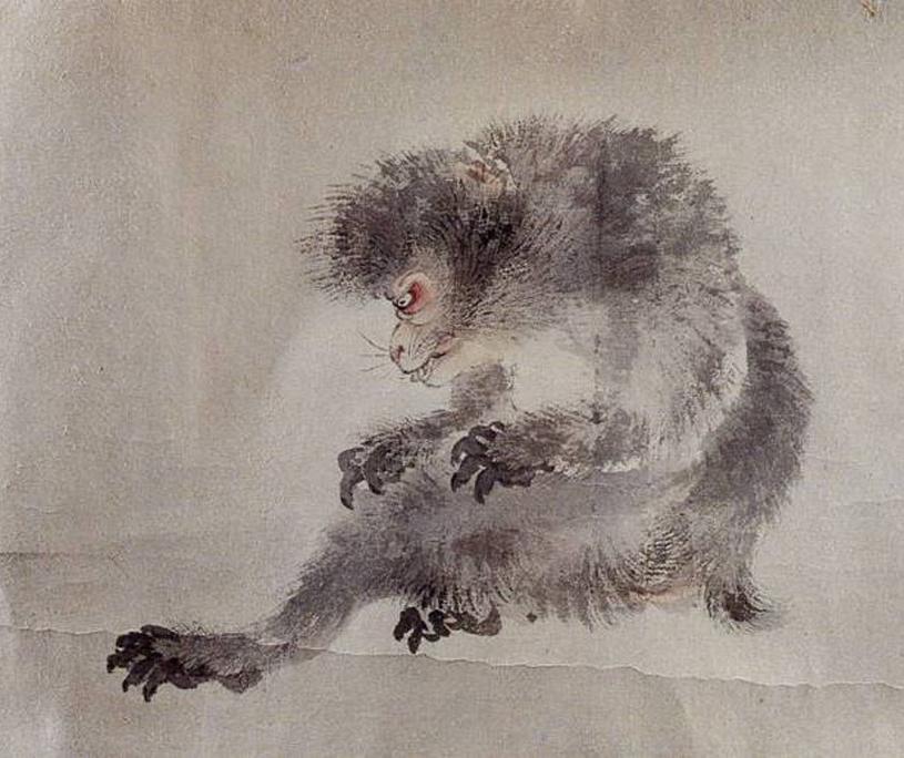 Japanmakaken-Portrait von Watanabe Kazan (1793-1841)