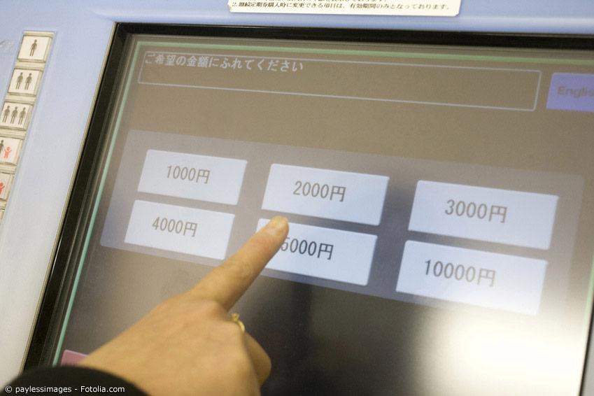 Ticketautomaten in Japan sind relativ einfach gestrickt und auch für Touristen verständlich. Noch einfacher geht das Bahnfahren in Tokyo und anderen Städten allerdings mit einer Prepaid-Karte wie Suica oder Pasmo.