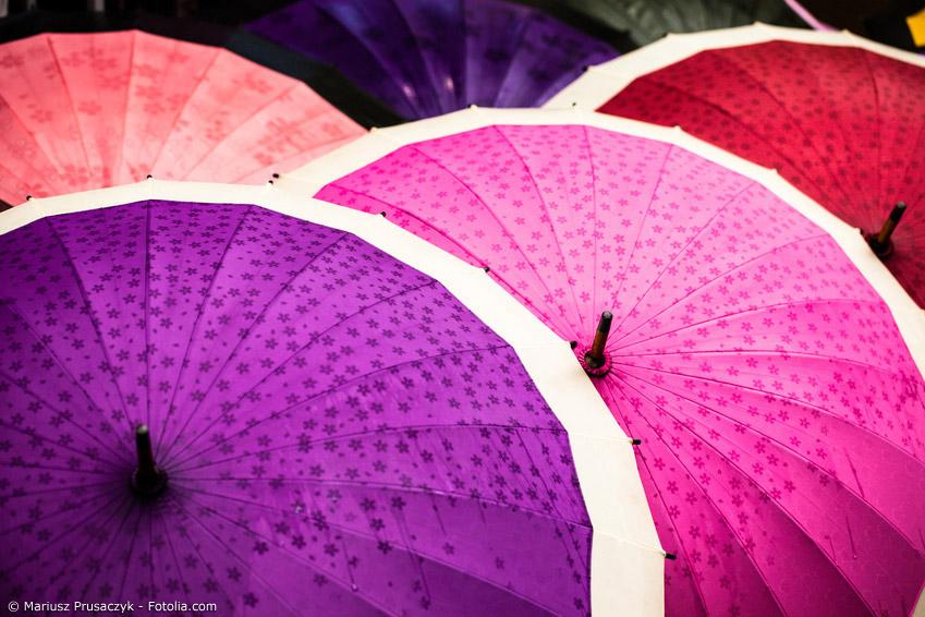Ein Trend beim japanischen Regenschirm und beim Wagasa geht in Richtung von speziellen Motiven, die nur bei Regen erscheinen.