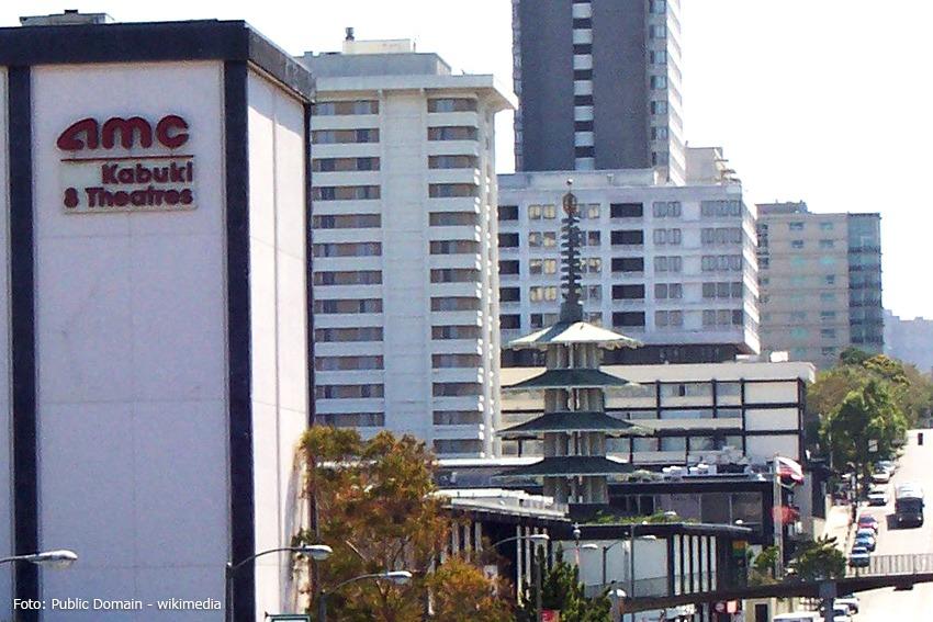 Japantown, San Francisco mit Friedenspagode und dem Sundance Kabuki