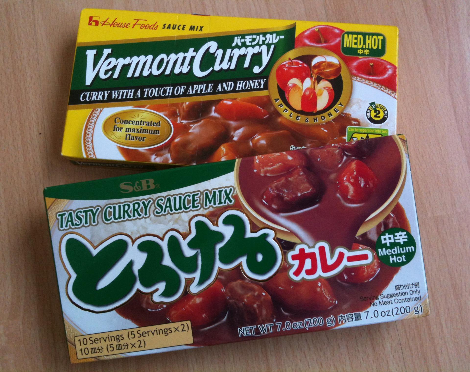 Über 100 verschiedene Instant Varianten warten auf japanische Curry-Reis Fans