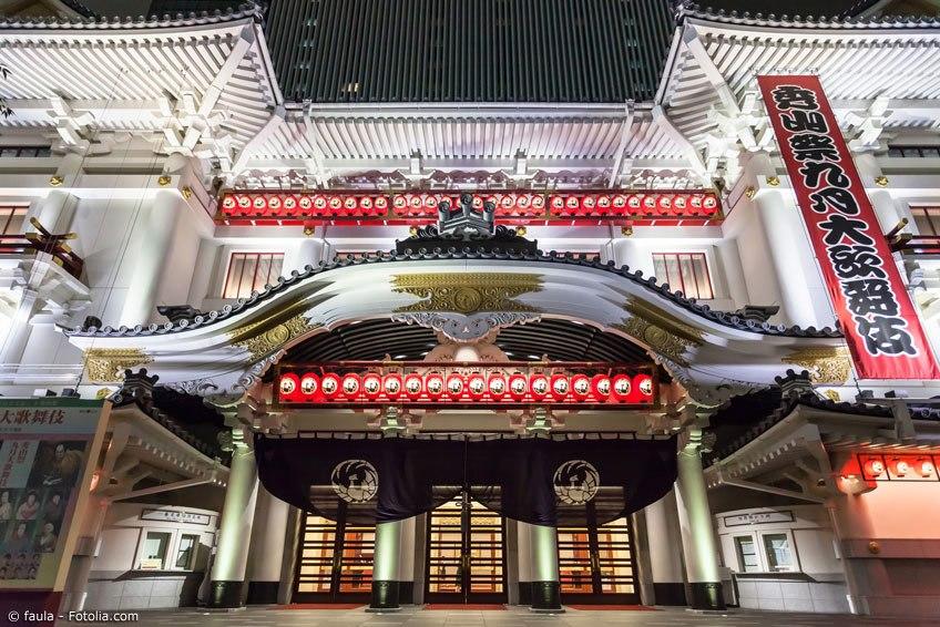 Das Kabukiza Theater in Tokyo