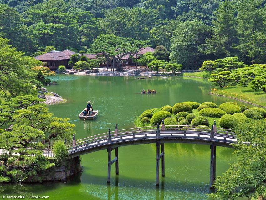 Der Ritsurin-koen ist einer der schönsten Gärten Japans und ein Aushängeschild der Präfektur Kagawa.