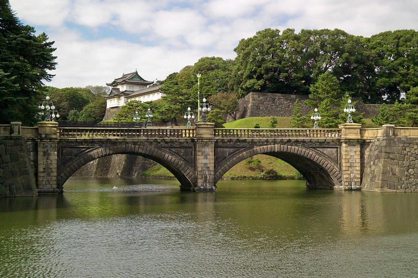 Der Palast des japanischen Kaisers mit Brücke