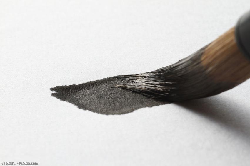 In der Kalligraphie werden Kumano Pinsel gern eingesetzt aufgrund ihres charakteristischen Schriftbildes.