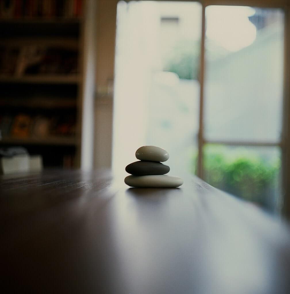 Stein-Dekoration in der Zen-Philosophie