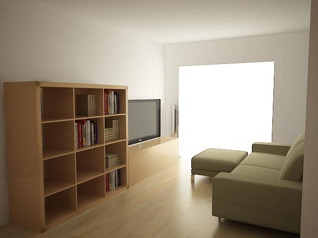 Kanso Wohn- und Fernsehzimmer