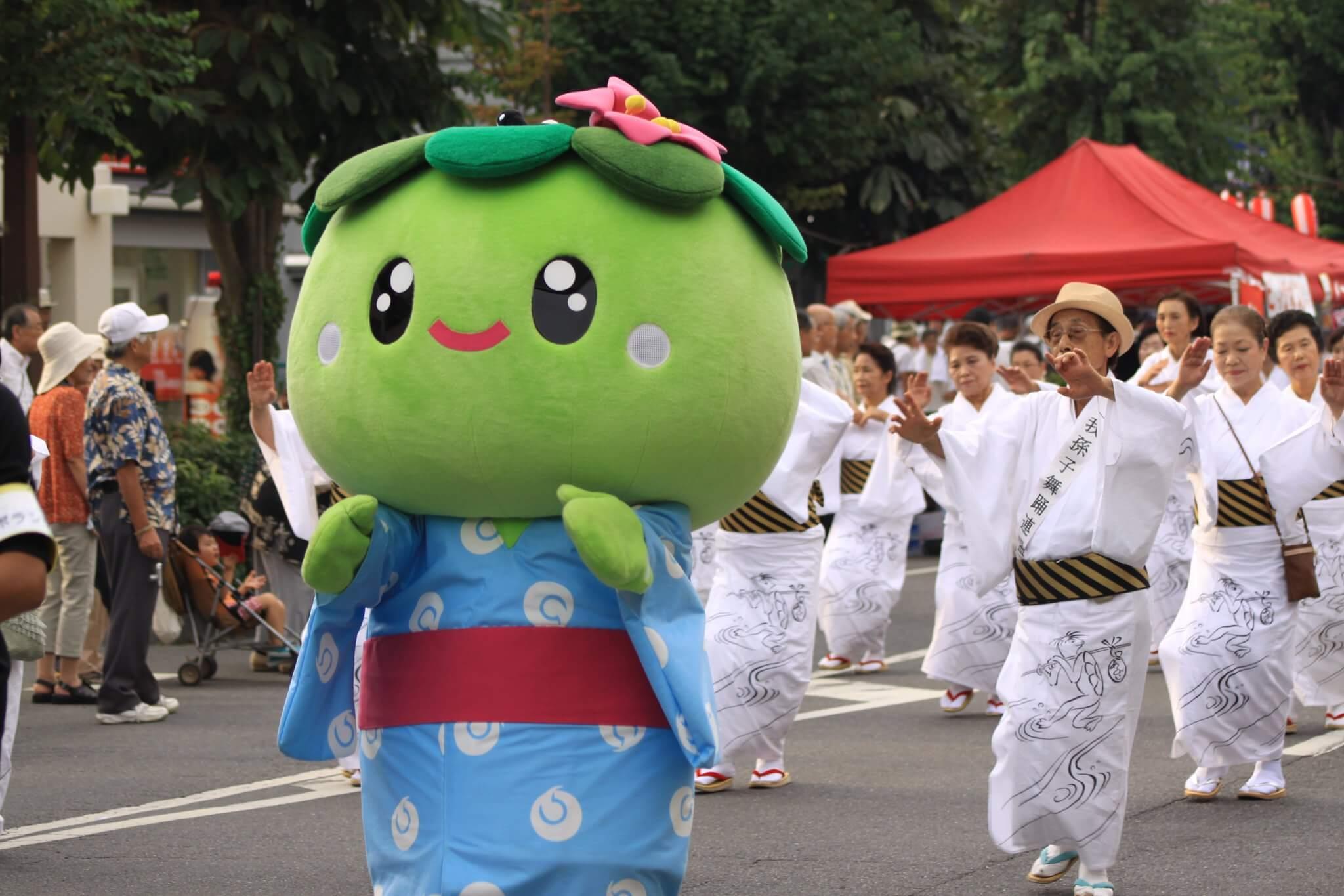 Kappa-Maskottchen in einer Parade