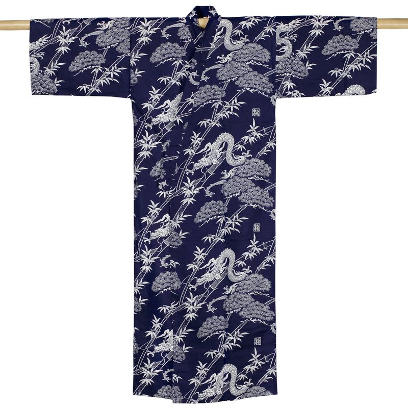 Kimono drachen extra lang kimono anziehen japanwelt for Lange deckenlampe