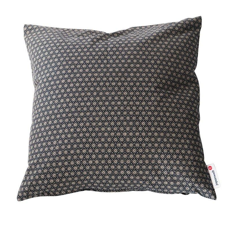 kissen japanwelt asanoha schwarz. Black Bedroom Furniture Sets. Home Design Ideas