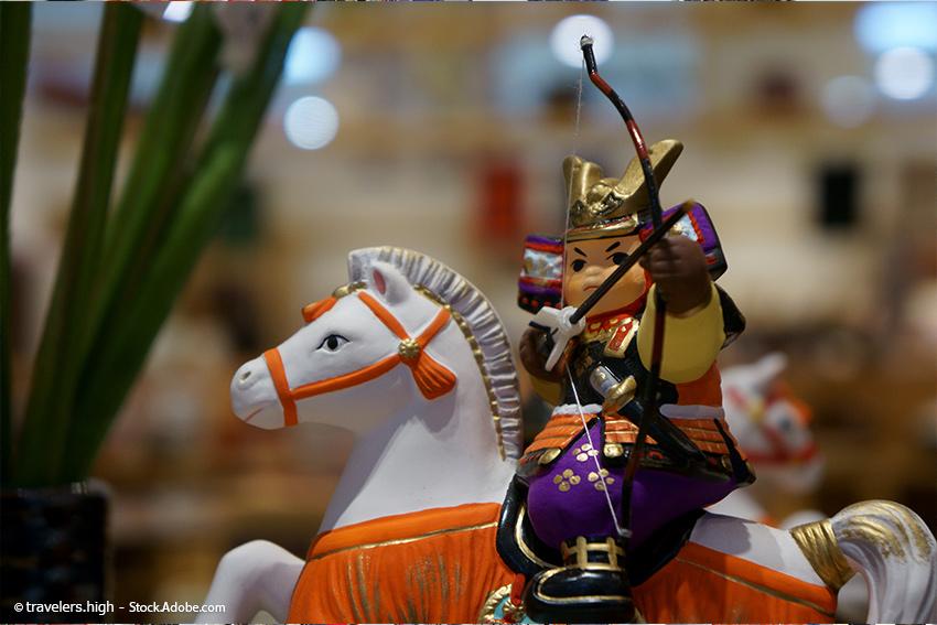 Kintarō-Figuren Kindertag in Japan
