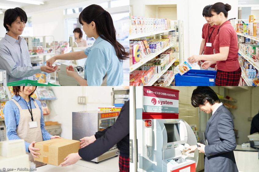 Einkaufen im Konbini - Service pur