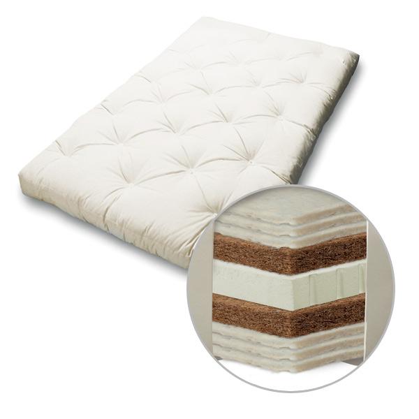 Rollbare Matratze luxusfuton mit schafwolle kokos luxus matratze bei japanwelt
