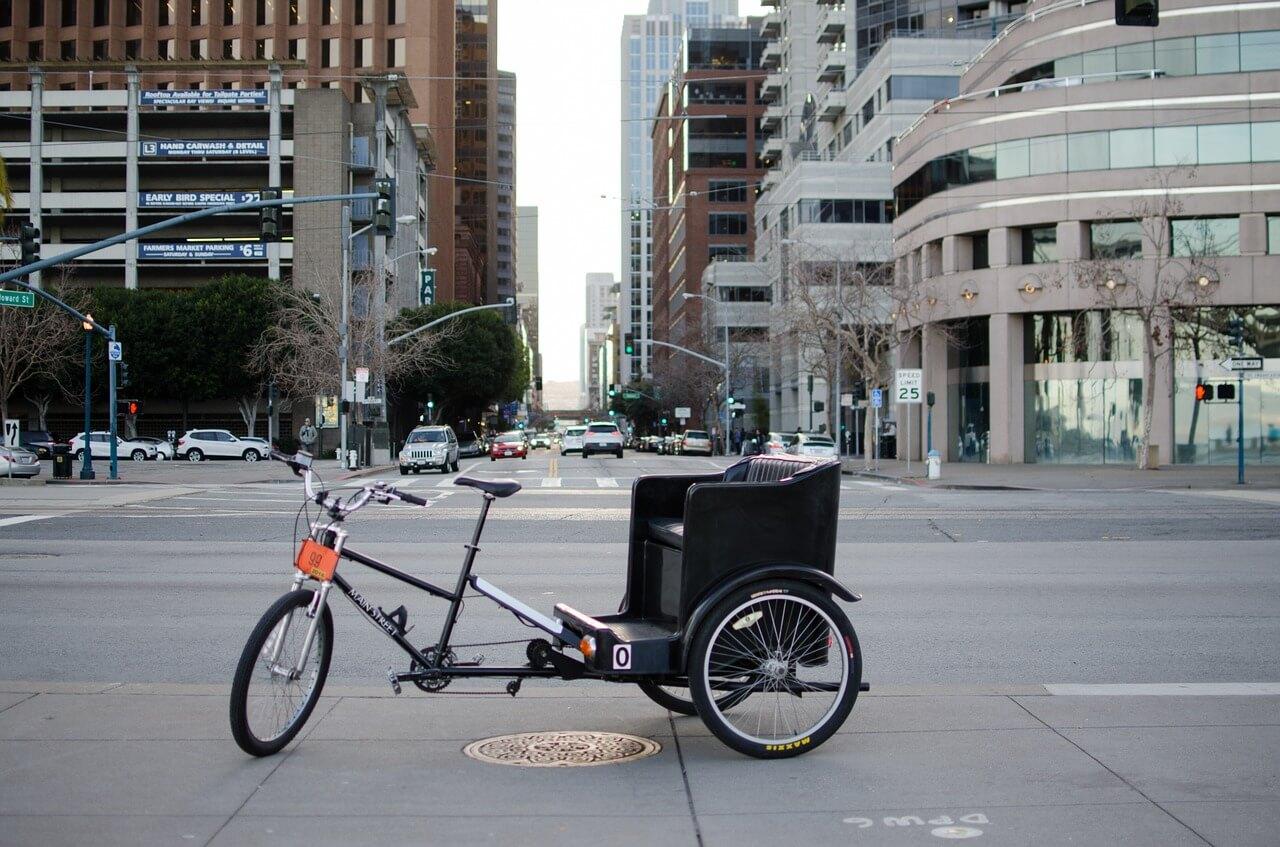 Moderne westliche Fahrradrikscha