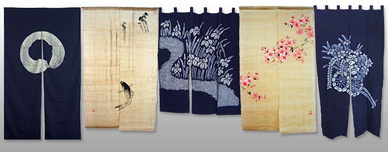 Gardinen deko gardinen mit japanischen motiven for Japanische zimmer deko