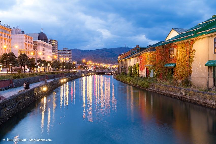 Otaru Kanal auf Hokkaido - Sehenswürdigkeiten