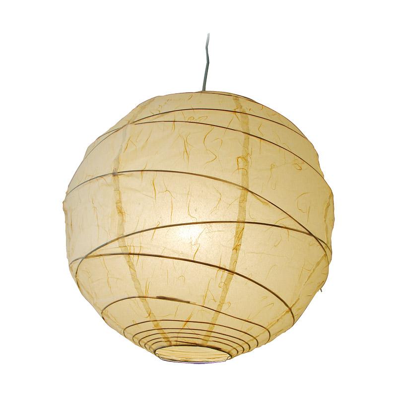 papierlampe maru deckenlampen asiatische lampen wohnen japanwelt. Black Bedroom Furniture Sets. Home Design Ideas