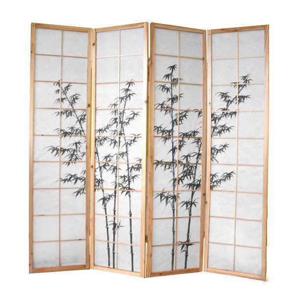 Paravent gr ner bambus paravents raumteiler japanwelt - Paravent bambus ...