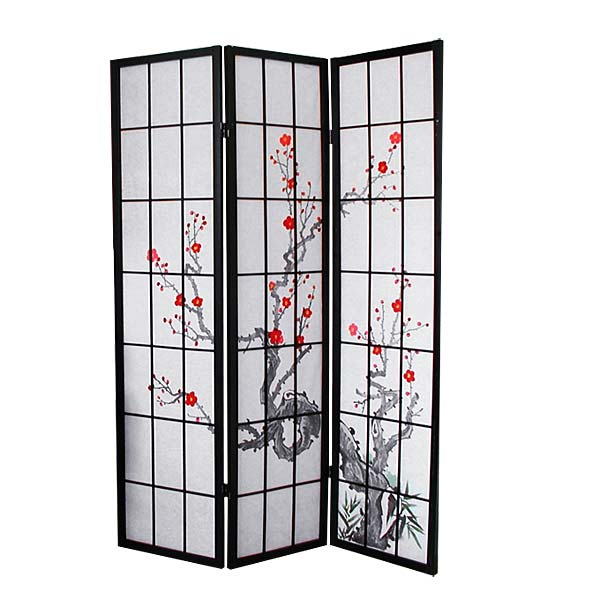 paravent sakura motiv japanwelt. Black Bedroom Furniture Sets. Home Design Ideas
