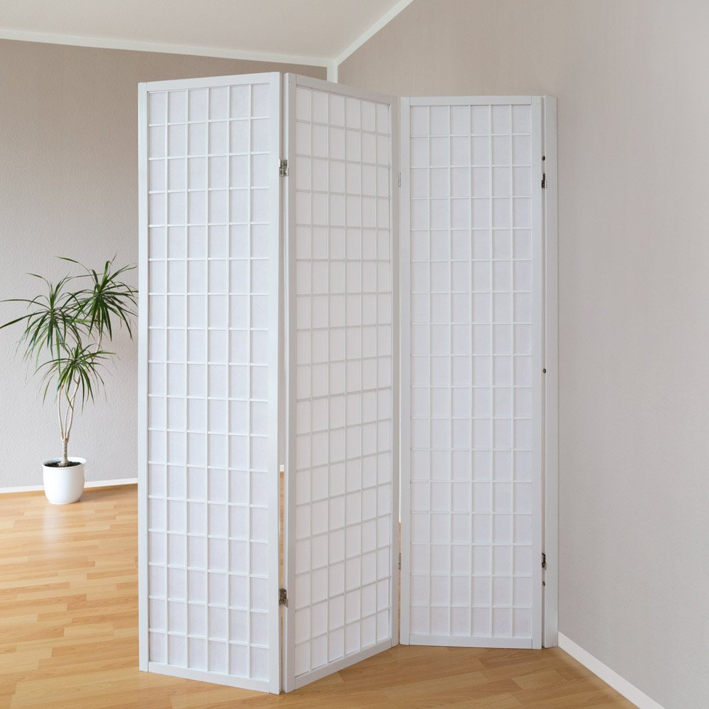 Screen wall mount folding screens room divider japanwelt - Collapsible room divider ...