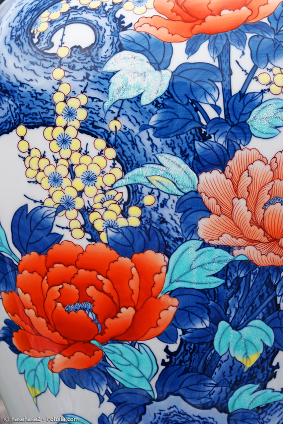Imari Porzellan Blumen Motiv