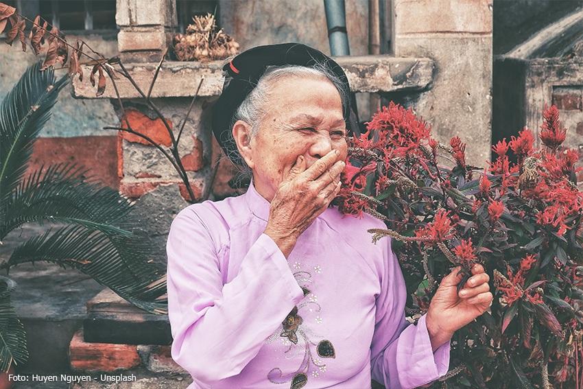 Zufrieden im Ruhestand