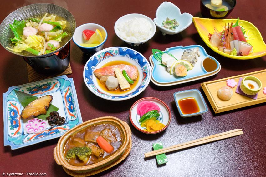 Ryokan Essen vielfältige kleine Gerichte