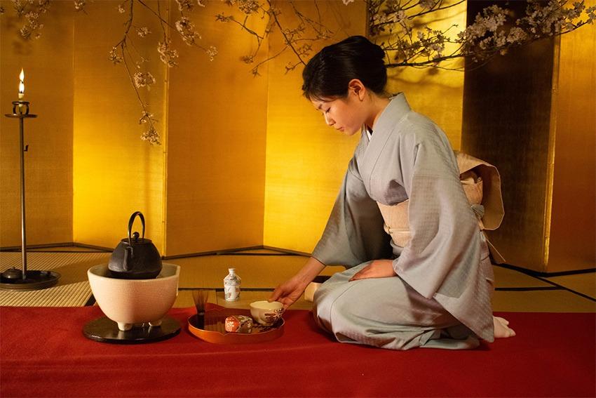 Sado-japanische Teezeremonie