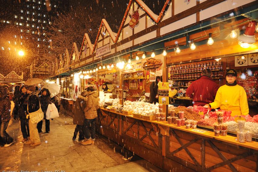 Weihnachtsmarkt in Sapporo