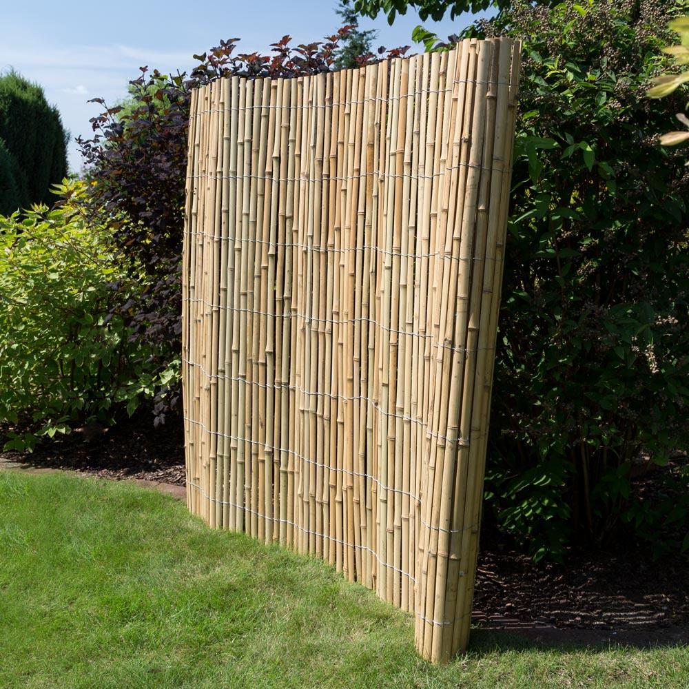 Sichtschutz Bambus • Zäune Bambuszäune • Bambus • Garten