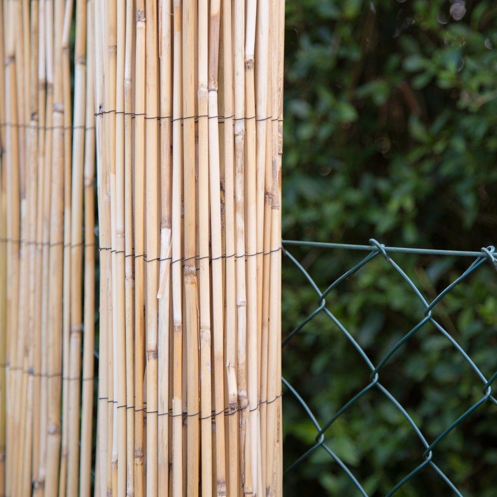 Sichtschutz Schilfrohr Zäune Bambuszäune Bambus Garten