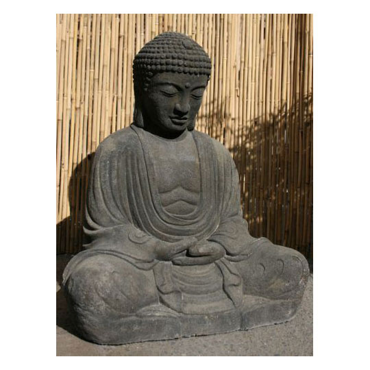 sitzender buddha im japanischen stil figuren skulpturen garten japanwelt. Black Bedroom Furniture Sets. Home Design Ideas