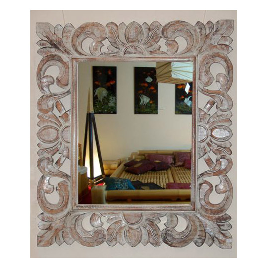 spiegel mit holzrahmen ornamente spiegel dekorieren japanwelt. Black Bedroom Furniture Sets. Home Design Ideas