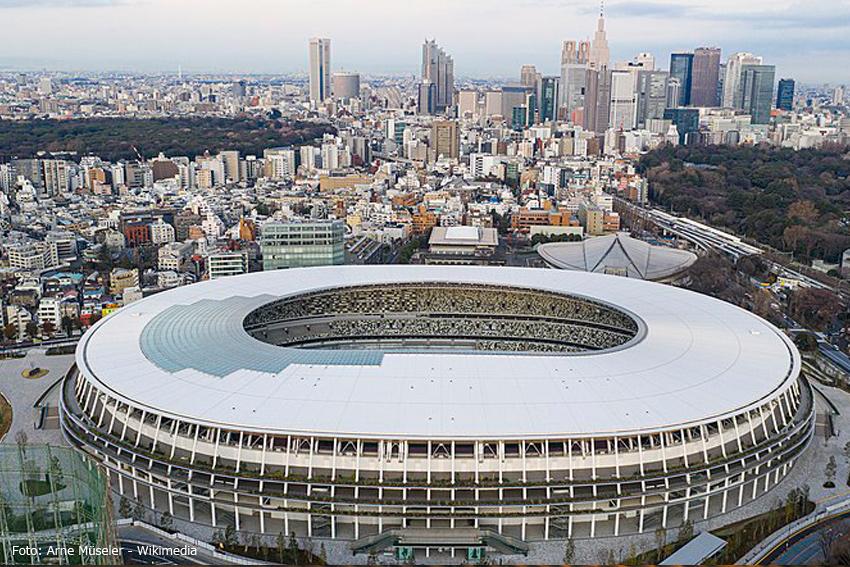 Wettkampstadion in Tokio für Olympia