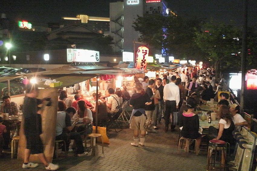 Street-Food Stände in Fukuoka Japan