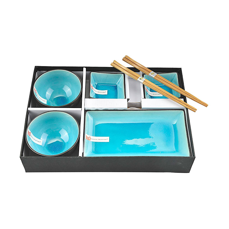 sushi set 39 t rkise serie 39 sushi japanische k che japanwelt. Black Bedroom Furniture Sets. Home Design Ideas