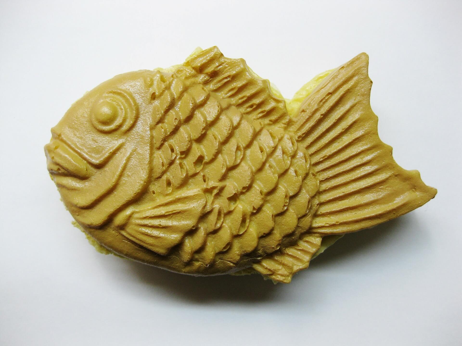 Gebäck in Fischform mit Anko gefüllt