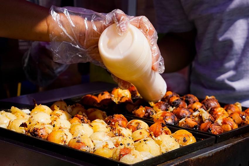 Zubereitung von Takoyaki