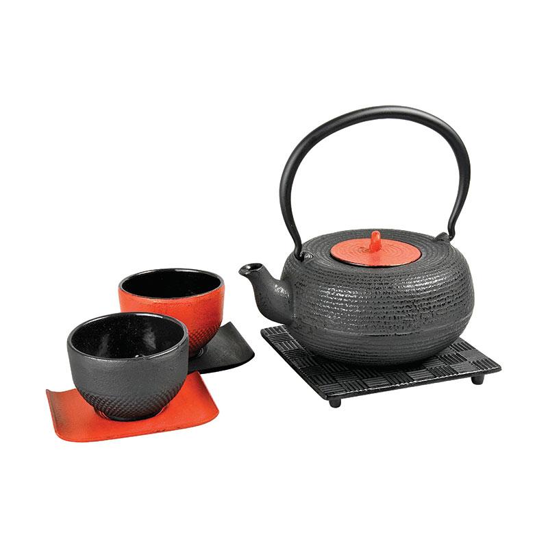 Teekanne Modern teekanne set modern 0 8 liter gusseiserne teekannen tetsubin