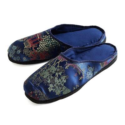 Chinesische Hausschuhe - Blau
