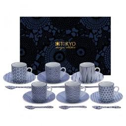 18-teiliges Espresso-Set - Japan Blau