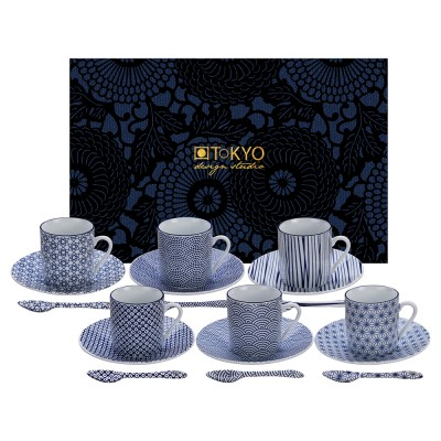 18-teiliges Espresso-Set - Japan Blau