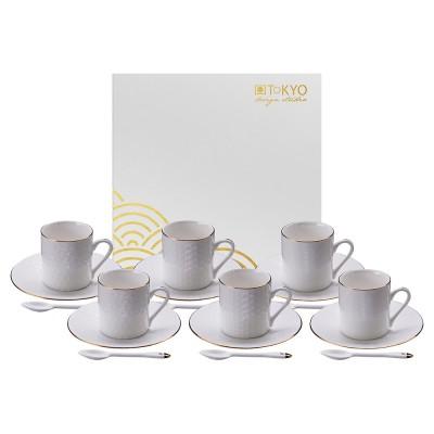 18-teiliges Espresso-Set - Japan Weiß