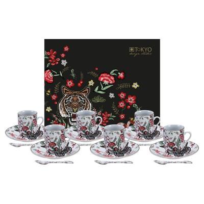 18-teiliges Espresso-Set 'Magischer Tiger'