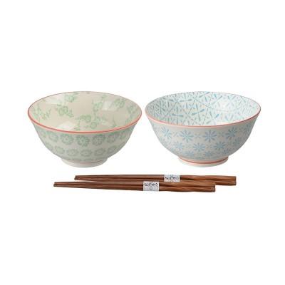 2er-Set Speiseschalen 'Nanairo' mit Essstäbchen