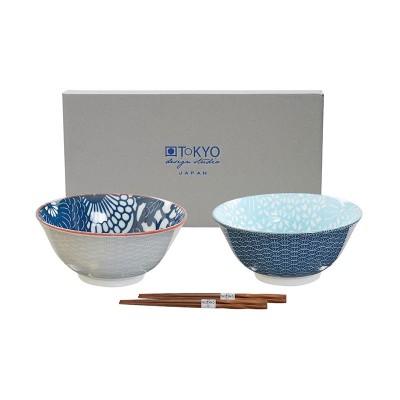 2er-Set Speiseschalen 'Shiki' mit Essstäbchen 15,2x6,7cm