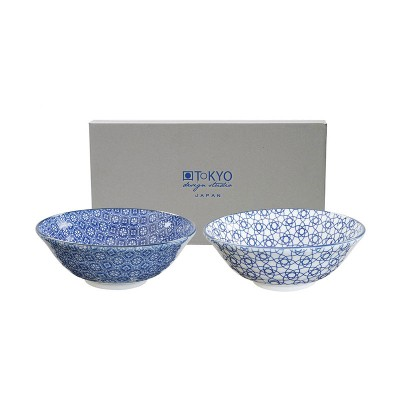 2er-Set Speiseschalen 'Japan Blau' groß