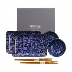 2er Sushiset 'Kotobuki' Japan blau
