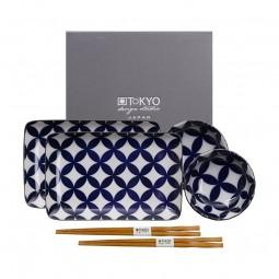 2er Sushiset 'Kotobuki - Shippou' Japan blau
